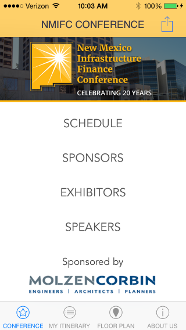 Conference App Main Screen